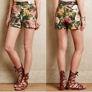 Anthropologie Elevenses floral shorts